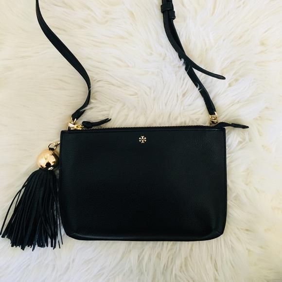 Tory Burch Bags   Nwt Tassel Black Crossbody Bag   Poshmark 7306a685f8